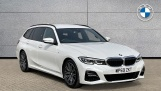 2020 BMW 320d M Sport Touring (White) - Image: 1