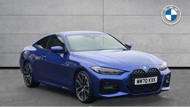 2021 BMW 420d M Sport Coupe (Blue) - Image: 1