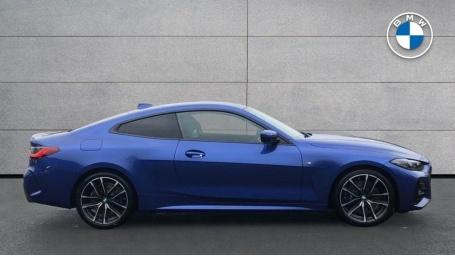 2021 BMW 420d M Sport Coupe (Blue) - Image: 3