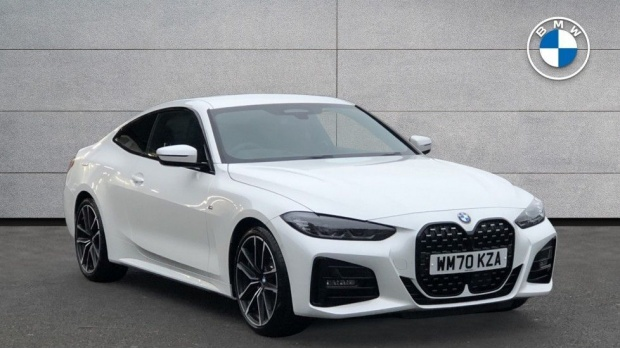 2021 BMW 420i M Sport Coupe (White) - Image: 1