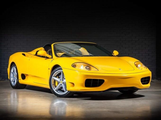 2003 Ferrari Spider 2-door (Yellow) - Image: 1