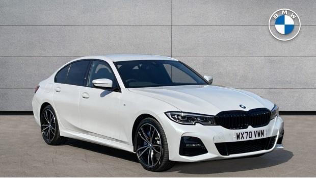 2020 BMW 330e M Sport Saloon (White) - Image: 1