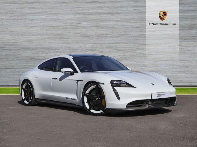 2020 Porsche 93.4kWh Turbo S Auto 4WD 4-door (White) - Image: 1
