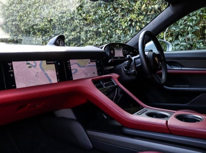 2020 Porsche 93.4kWh Turbo S Auto 4WD 4-door (White) - Image: 3