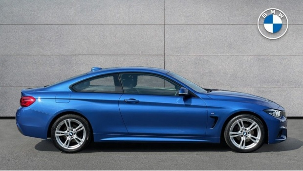 2018 BMW 420d M Sport Coupe (Blue) - Image: 3