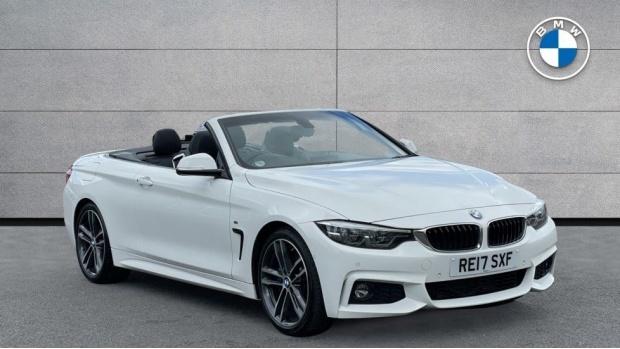 2017 BMW 430d M Sport Convertible (White) - Image: 1
