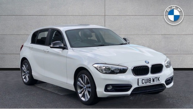 2018 BMW 118d Sport 5-door (White) - Image: 1