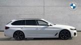 2021 BMW 520d M Sport Touring (White) - Image: 3