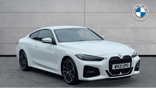 2021 BMW 420d M Sport Coupe (White) - Image: 1
