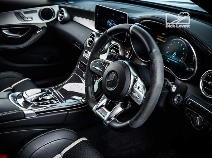 2020 Mercedes-Benz C63 V8 BiTurbo AMG S SpdS MCT 4-door (Black) - Image: 5