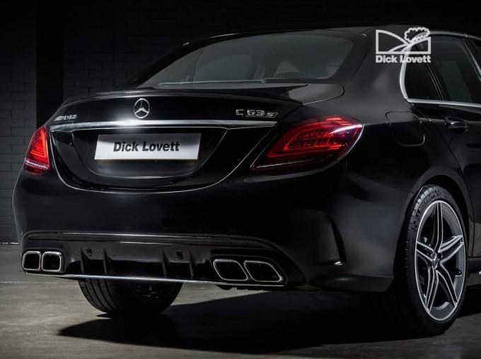 2020 Mercedes-Benz C63 V8 BiTurbo AMG S SpdS MCT 4-door (Black) - Image: 10