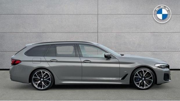 2021 BMW 520d M Sport Touring (Grey) - Image: 3