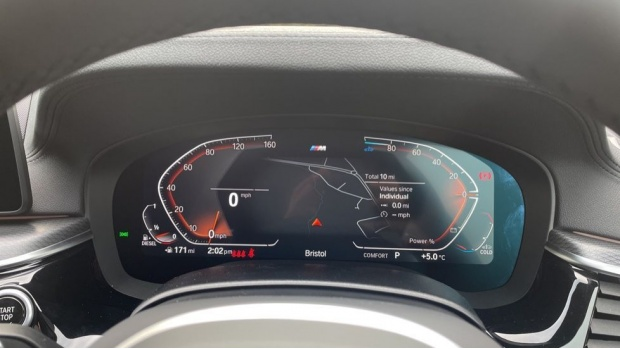 2021 BMW 520d M Sport Touring (Grey) - Image: 9