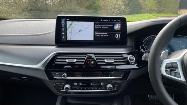 2021 BMW 530e M Sport Touring (Black) - Image: 8