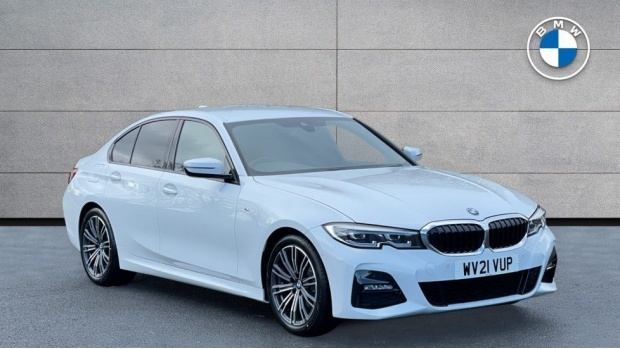 2021 BMW 320d M Sport Saloon (White) - Image: 1