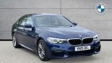 2019 BMW 520i M Sport Saloon (Blue) - Image: 1