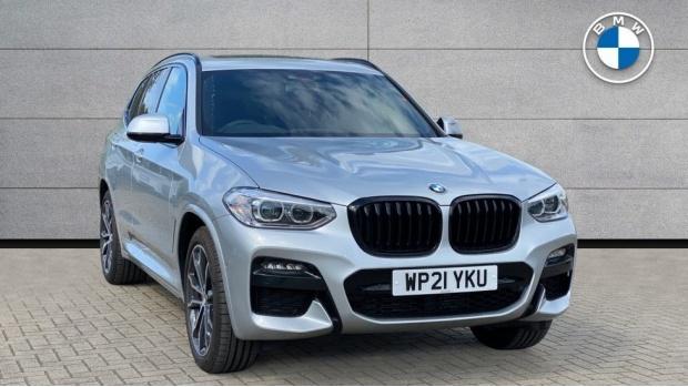 2021 BMW XDrive20d M Sport (Silver) - Image: 1