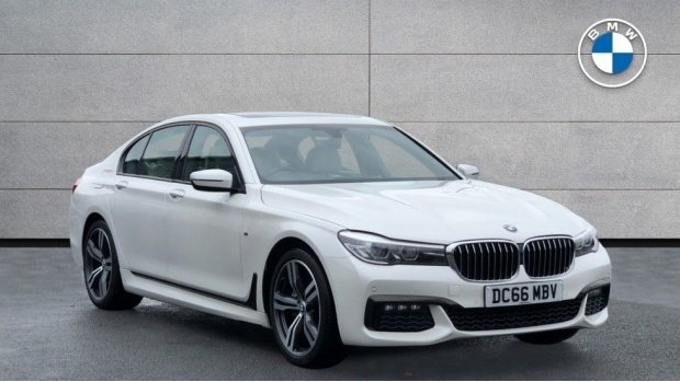 2016 BMW 730d xDrive M Sport Saloon (White) - Image: 1