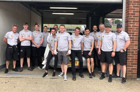 Team Cardiff Supporting at Porsche Restoracing Championship